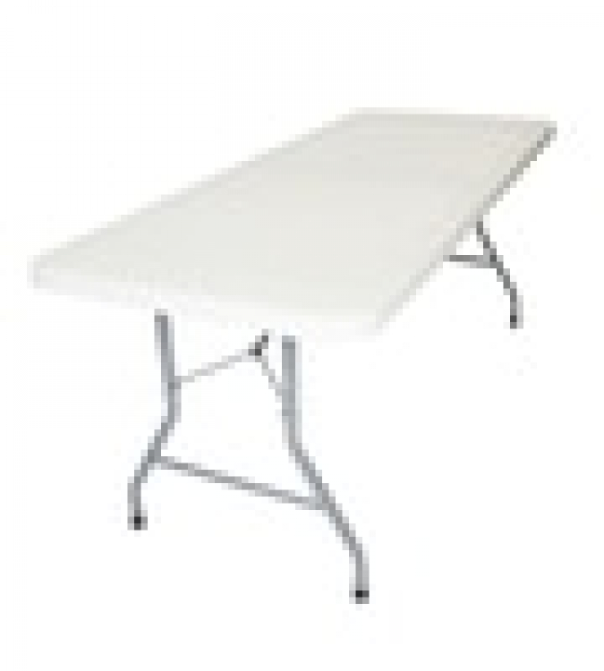 No table cloth 8 ft table ($3.00 off with Bounce/Slide Rental)