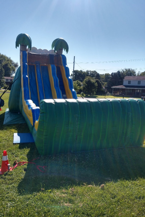 20 Ft Dual Lane Tropical Water/Dry Slide +$50 when using wet