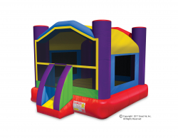Multi-Color Large Wacky Bouncer Wacky Bounce House-Large