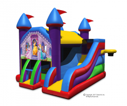 Princess Theme Wacky 5-in-1 Combo Castle Bouncer & Slide-Large