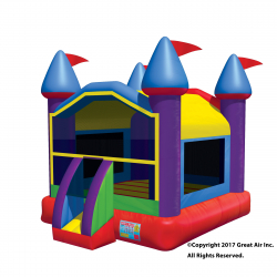 Multi-color Large Castle Large Castle Bouncer